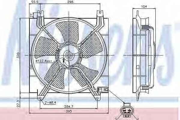 Вентилятор охлаждения двигателя NISSENS 85353 - изображение