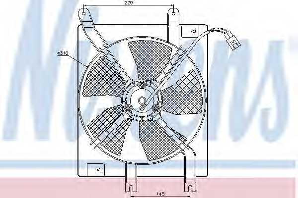 Вентилятор конденсатора кондиционера NISSENS 85356 - изображение