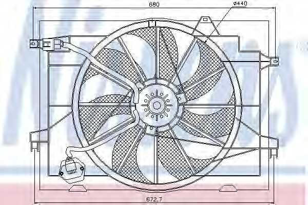 Вентилятор охлаждения двигателя NISSENS 85366 - изображение