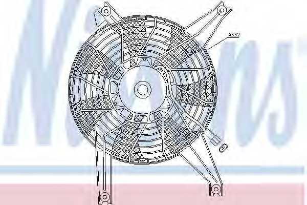 Вентилятор конденсатора кондиционера NISSENS 85383 - изображение