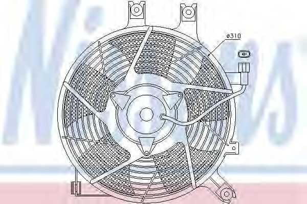 Вентилятор конденсатора кондиционера NISSENS 85384 - изображение