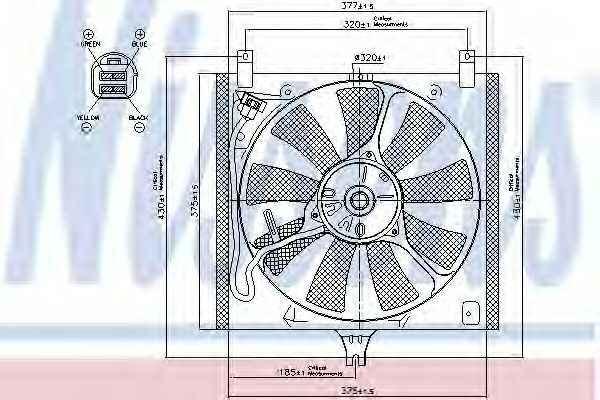 Вентилятор охлаждения двигателя NISSENS 85385 - изображение