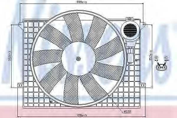 Вентилятор охлаждения двигателя NISSENS 85401 - изображение