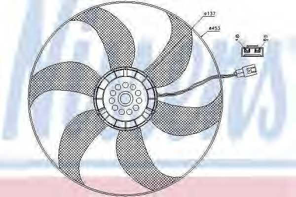 Вентилятор конденсатора кондиционера NISSENS 85403 - изображение