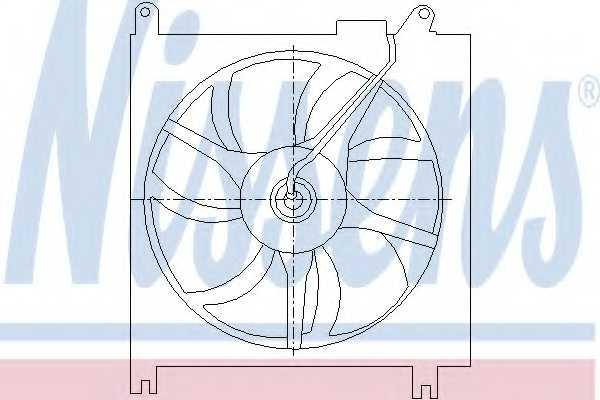 Вентилятор конденсатора кондиционера NISSENS 85415 - изображение