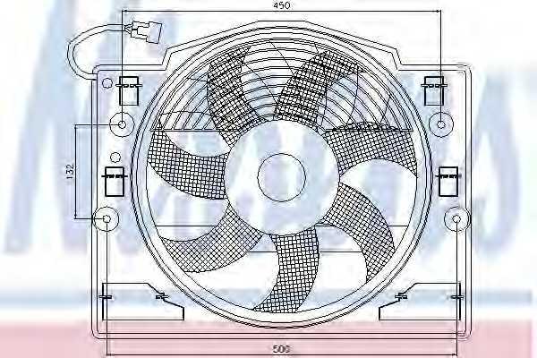 Вентилятор конденсатора кондиционера NISSENS 85420 - изображение