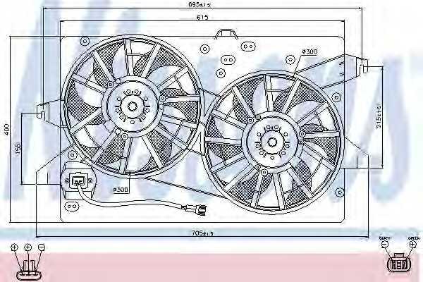 Вентилятор охлаждения двигателя NISSENS 85483 - изображение