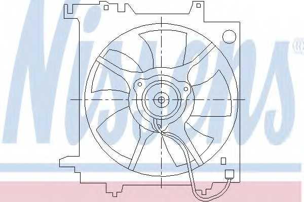 Вентилятор охлаждения двигателя NISSENS 85493 - изображение