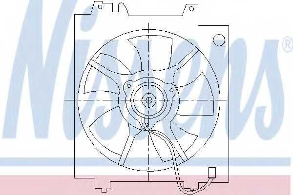 Вентилятор конденсатора кондиционера NISSENS 85494 - изображение