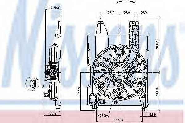 Вентилятор охлаждения двигателя NISSENS 85515 - изображение