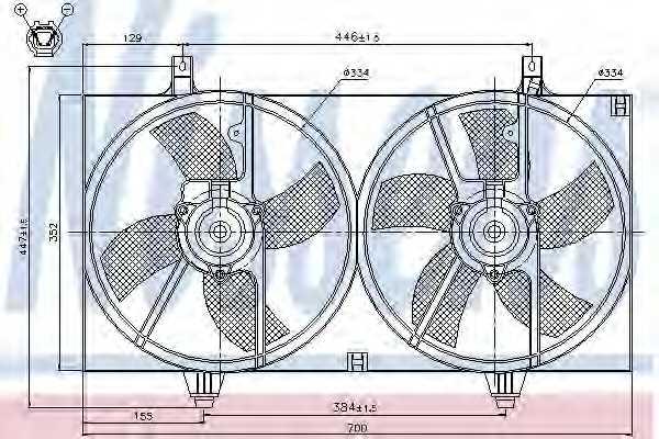 Вентилятор охлаждения двигателя NISSENS 85526 - изображение