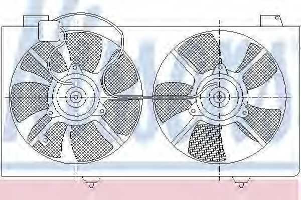 Вентилятор охлаждения двигателя NISSENS 85529 - изображение