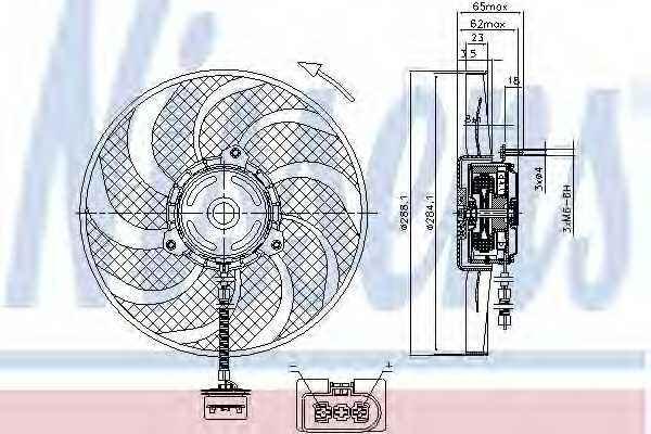 Вентилятор охлаждения двигателя NISSENS 85541 - изображение