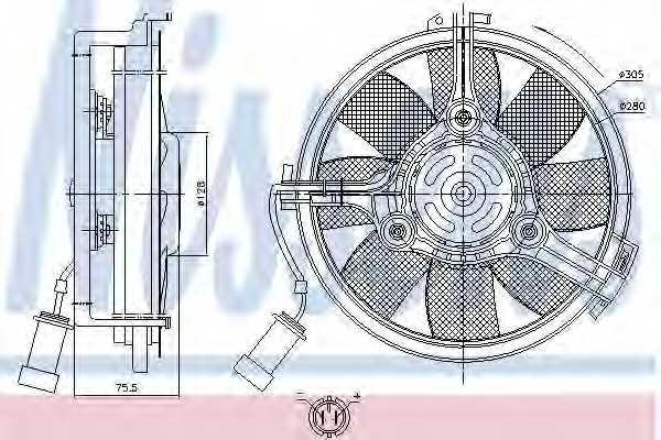 Вентилятор охлаждения двигателя NISSENS 85546 - изображение