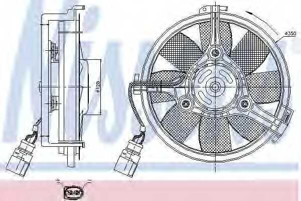 Вентилятор охлаждения двигателя NISSENS 85547 - изображение