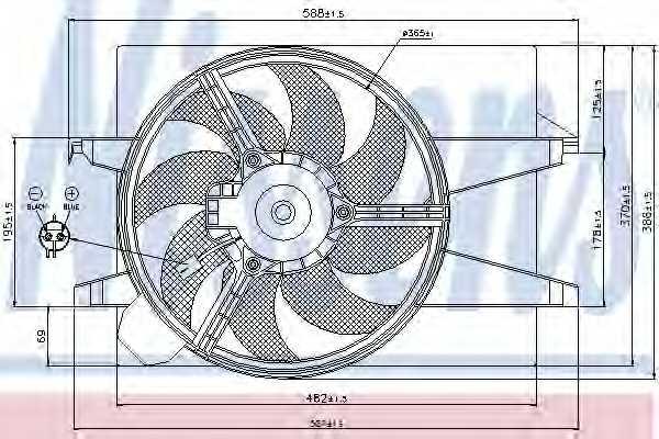 Вентилятор охлаждения двигателя NISSENS 85583 - изображение