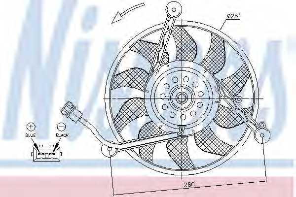 Вентилятор охлаждения двигателя NISSENS 85618 - изображение