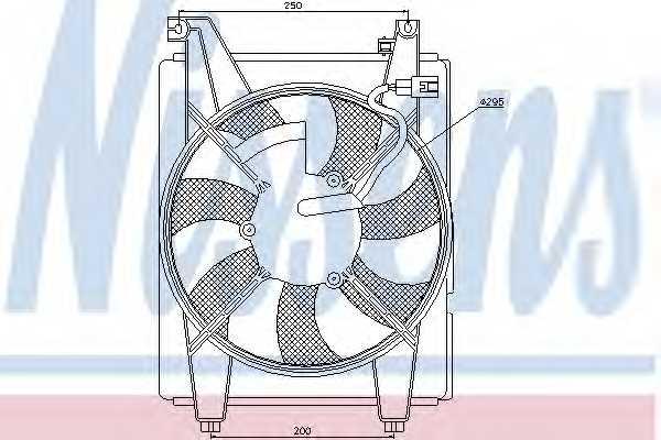 Вентилятор конденсатора кондиционера NISSENS 85625 - изображение