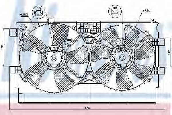 Вентилятор охлаждения двигателя NISSENS 85635 - изображение