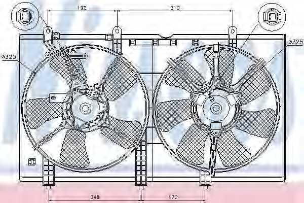 Вентилятор охлаждения двигателя NISSENS 85636 - изображение