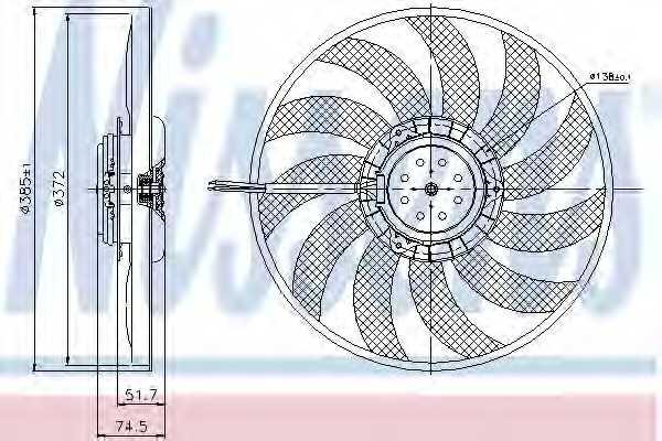 Вентилятор охлаждения двигателя NISSENS 85638 - изображение