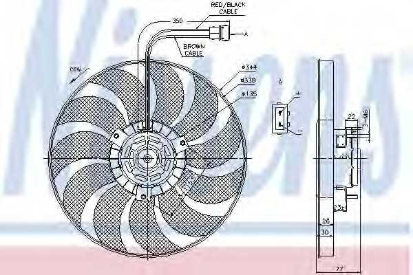 Вентилятор охлаждения двигателя NISSENS 85676 - изображение