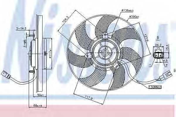 Вентилятор охлаждения двигателя NISSENS 85680 - изображение