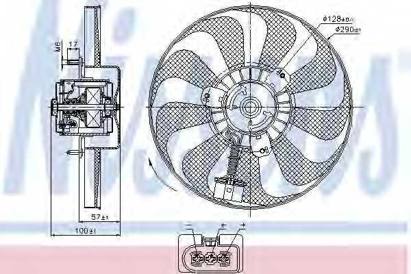 Вентилятор охлаждения двигателя NISSENS 85684 - изображение