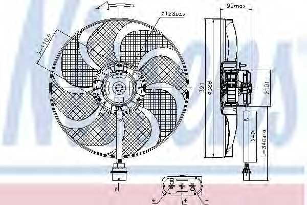 Вентилятор охлаждения двигателя NISSENS 85690 - изображение