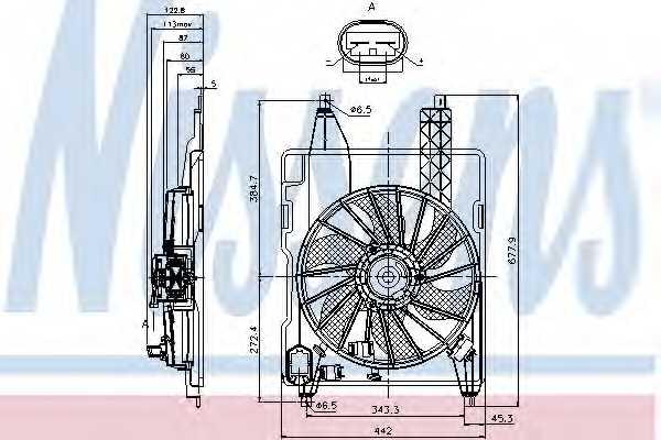 Вентилятор охлаждения двигателя NISSENS 85706 - изображение