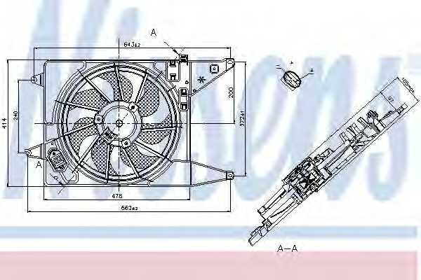 Вентилятор охлаждения двигателя NISSENS 85710 - изображение