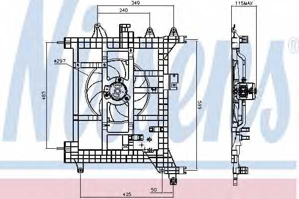 Вентилятор охлаждения двигателя NISSENS 85711 - изображение