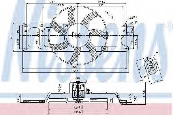 Вентилятор охлаждения двигателя NISSENS 85712 - изображение