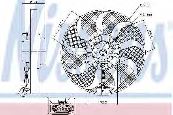 Вентилятор охлаждения двигателя NISSENS 85715 - изображение