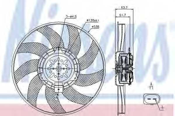 Вентилятор охлаждения двигателя NISSENS 85727 - изображение