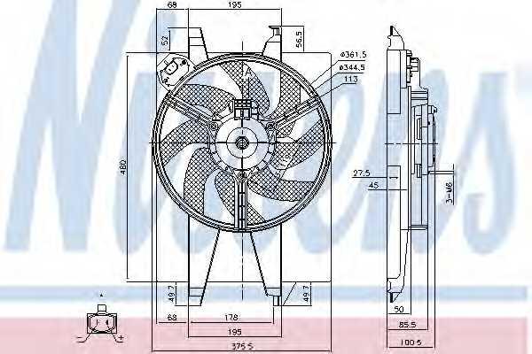 Вентилятор охлаждения двигателя NISSENS 85767 - изображение