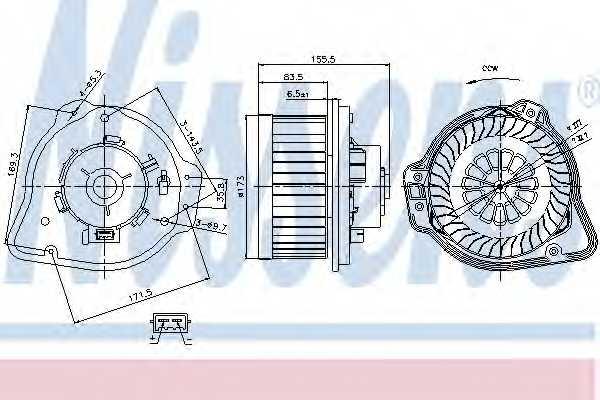 Вентилятор салона NISSENS 87020 - изображение