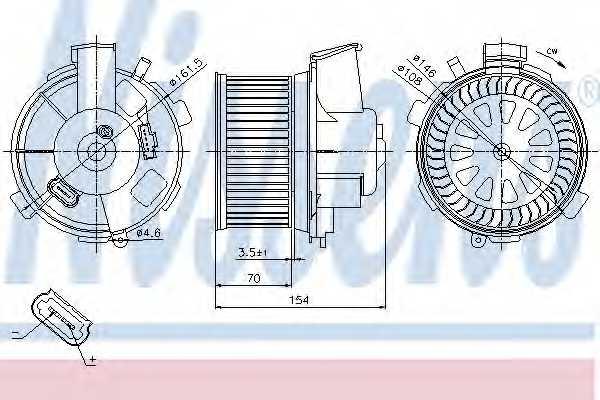 Вентилятор салона NISSENS 87021 - изображение