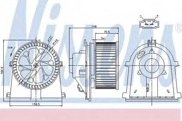 Вентилятор салона NISSENS 87022 - изображение