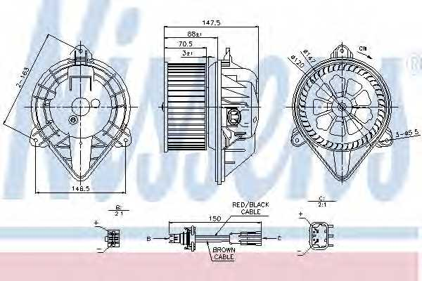 Вентилятор салона NISSENS 87024 - изображение