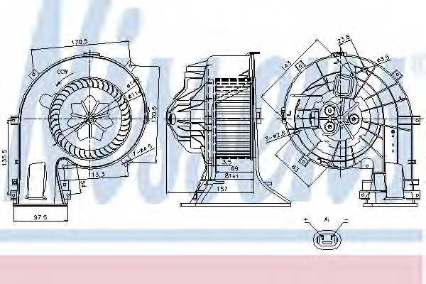 Вентилятор салона NISSENS 87025 - изображение