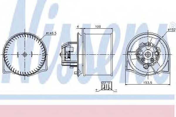 Вентилятор салона NISSENS 87026 - изображение
