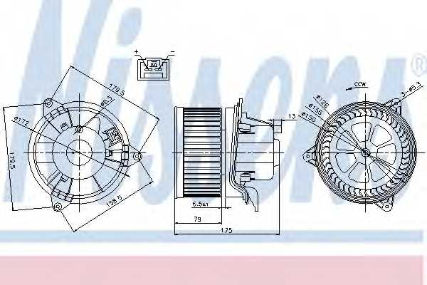 Вентилятор салона NISSENS 87027 - изображение