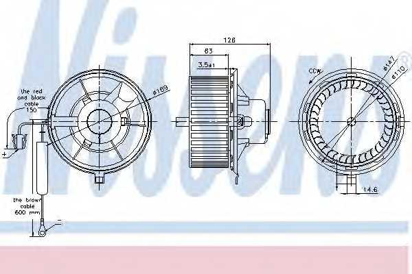Вентилятор салона NISSENS 87031 - изображение