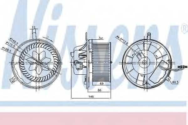 Вентилятор салона NISSENS 87032 - изображение
