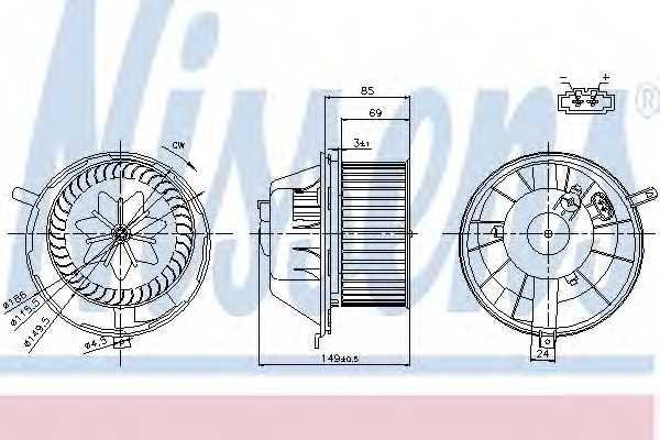 Вентилятор салона NISSENS 87034 - изображение