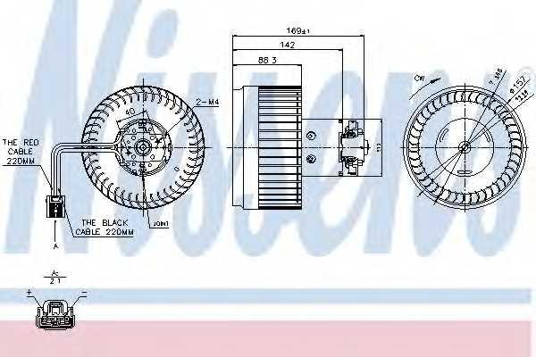 Вентилятор салона NISSENS 87036 - изображение