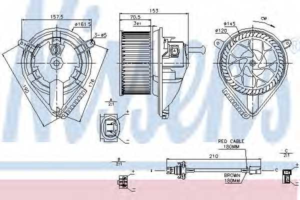Вентилятор салона NISSENS 87039 - изображение
