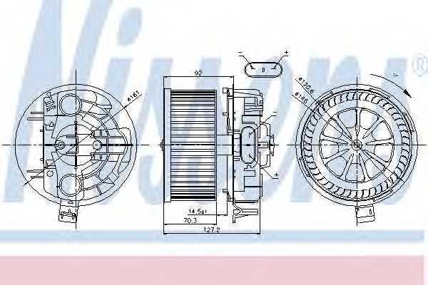 Вентилятор салона NISSENS 87043 - изображение
