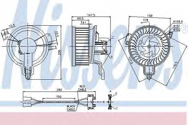 Вентилятор салона NISSENS 87048 - изображение